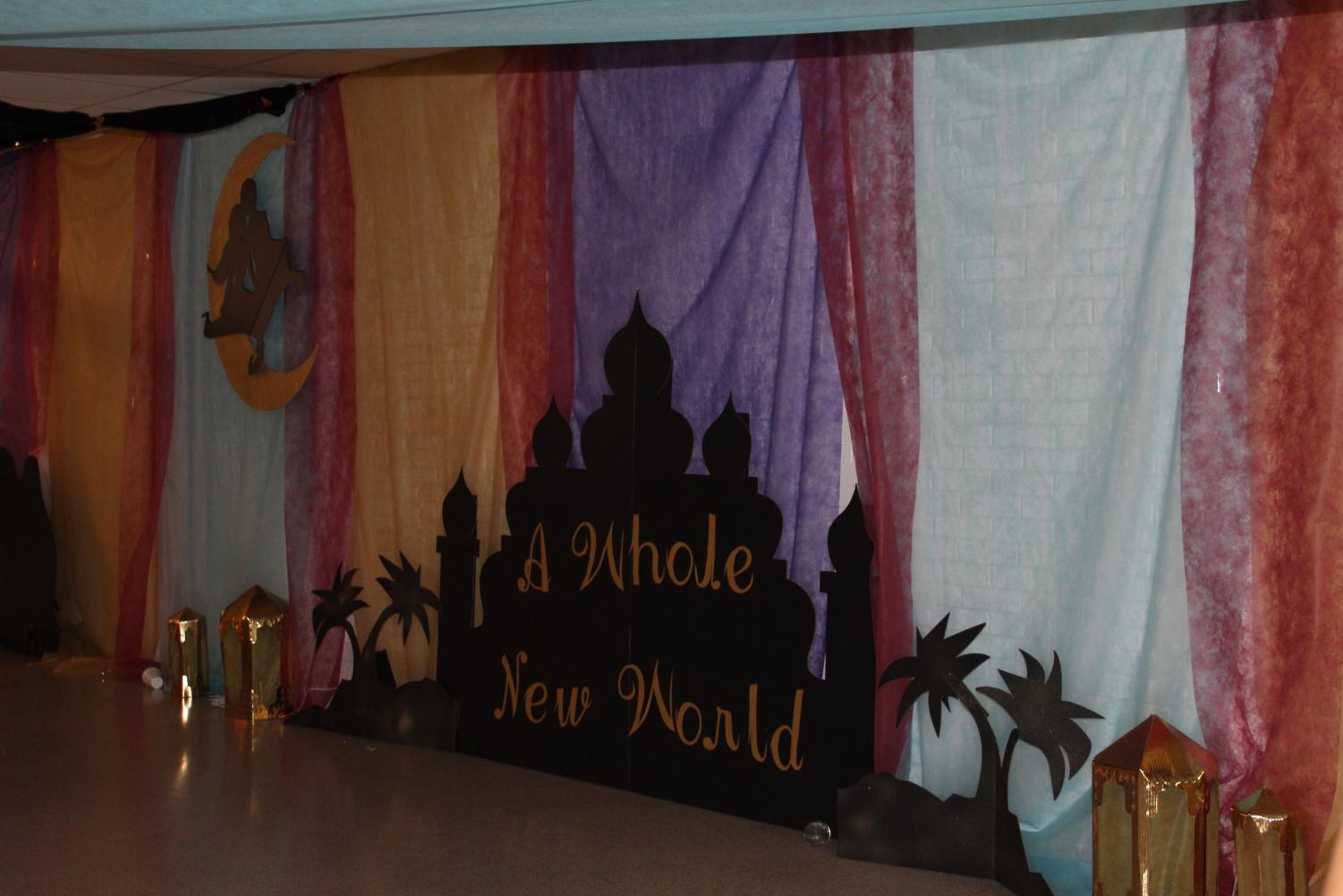 Student Council members spent hours making the halls, gyms and cafeteria into a beautiful and fun setting.