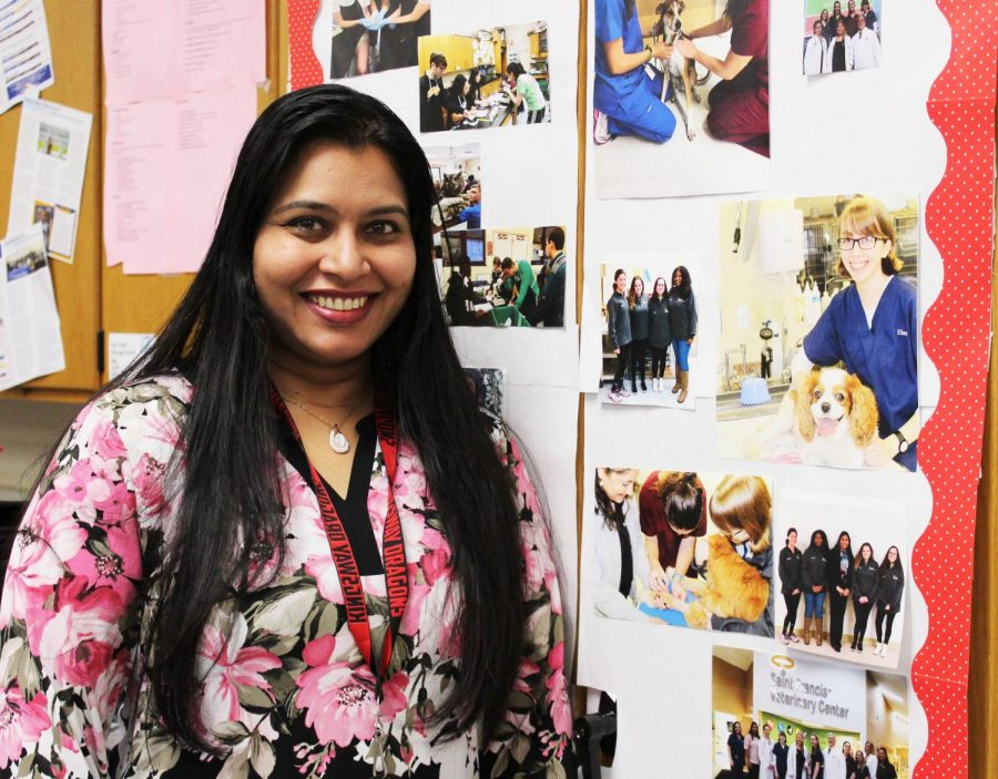 Biology+teacher+Reena+Ninan+++++makes+learning+enjoyable+in+her+classroom.