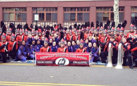 The band was honored to march in the 2019 Dunkin' Parade in Philadelphia on Thanksgiving.