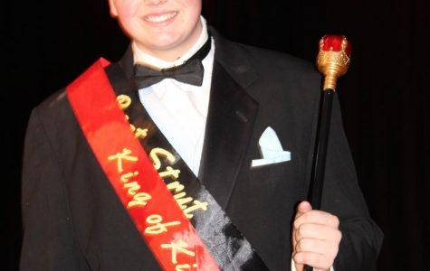 Senior Sean Barr takes the throne.