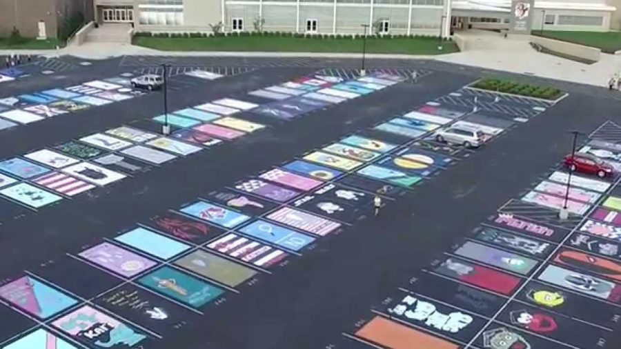 Taylor High School in Cleve, Ohio has been allowing seniors to paint their parking spots since 2016.
